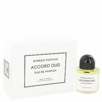 Byredo Accord Oud by Byredo Eau De Parfum Spray (Unisex) 3.4 oz / 100 ml (Women)