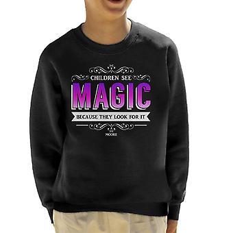 Lamb Children See Magic Quote Kid's Sweatshirt