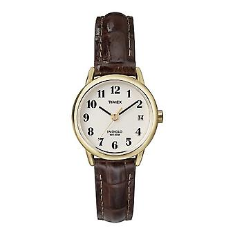 Timex women's T20071PF Classic Analog wristwatches, leather, gold/Brown