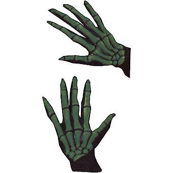 手袋スケルトン Ovrsze Grn