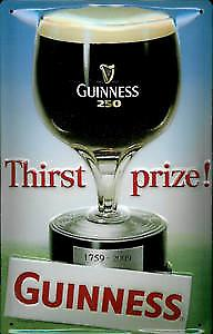 Guinness Thirst Prize embossed steel sign