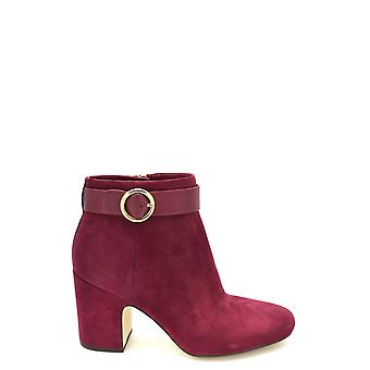 Michael Kors Burgundy Suede Ankle Boots
