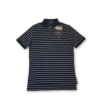 Ralph Lauren polo oft touch polo in navy tripe patter