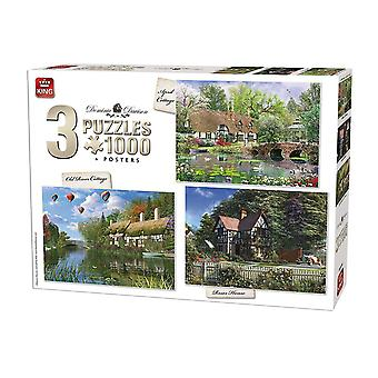King Cottage 3-In-1 Compendium Jigsaw Puzzles (3 x 1000 Pieces)