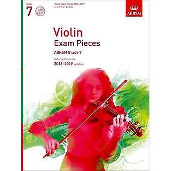 Violin Exam Pieces 2016-2019 - ABRSM Grade 7 - Score - Part & 2 CDs -