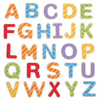 Bigjigs Toys Wooden Educational Magnetic Letters (Uppercase) Words Alphabet