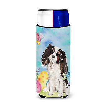 Tricolor Cavalier Spaniel Easter Michelob Ultra Hugger for slim cans