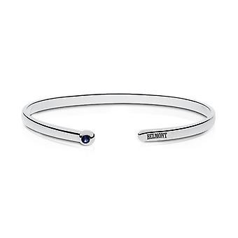 Belmont University Belmont Engraved Sapphire Cuff Bracelet