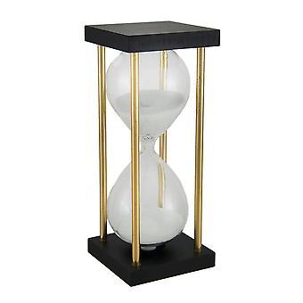 الساعة الرملية الرمال البيضاء المعاصرة في موقف ديكور