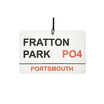 Portsmouth / Fratton Park Street registrera bilen luftfräschare