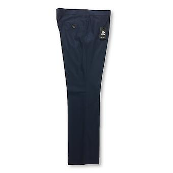 Guide London trousers in navy blue micro dot design