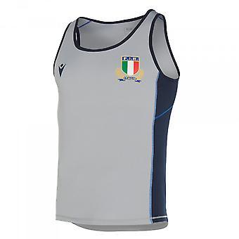 2019-2020 Italie Macron Rugby Dry Gym Singlet (Gris)