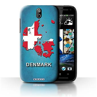 STUFF4 Case/Cover voor HTC Desire 608t/Denemarken/Deense/vlag Naties