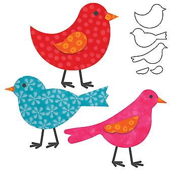 Go! Fabric Cutting Dies It Fits! Birds 553 24