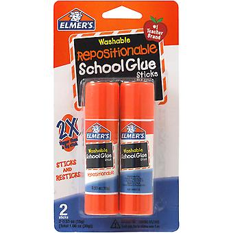 Elmer's Repositionable School Glue Sticks 2 Pkg .53Oz E627