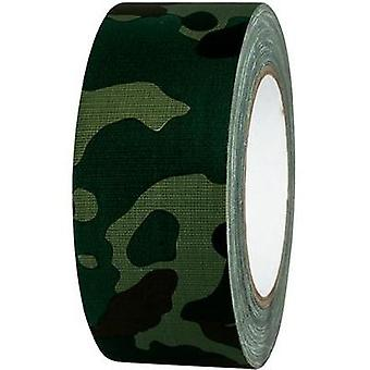 Cloth tape TOOLCRAFT 80B50L25CC Camouflage (L x W) 25 m x 50 mm Hot glue (HMA) Content: 1 Rolls