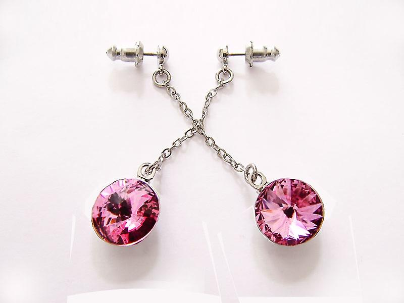 Pink Crystal drop earrings EMB 14.1
