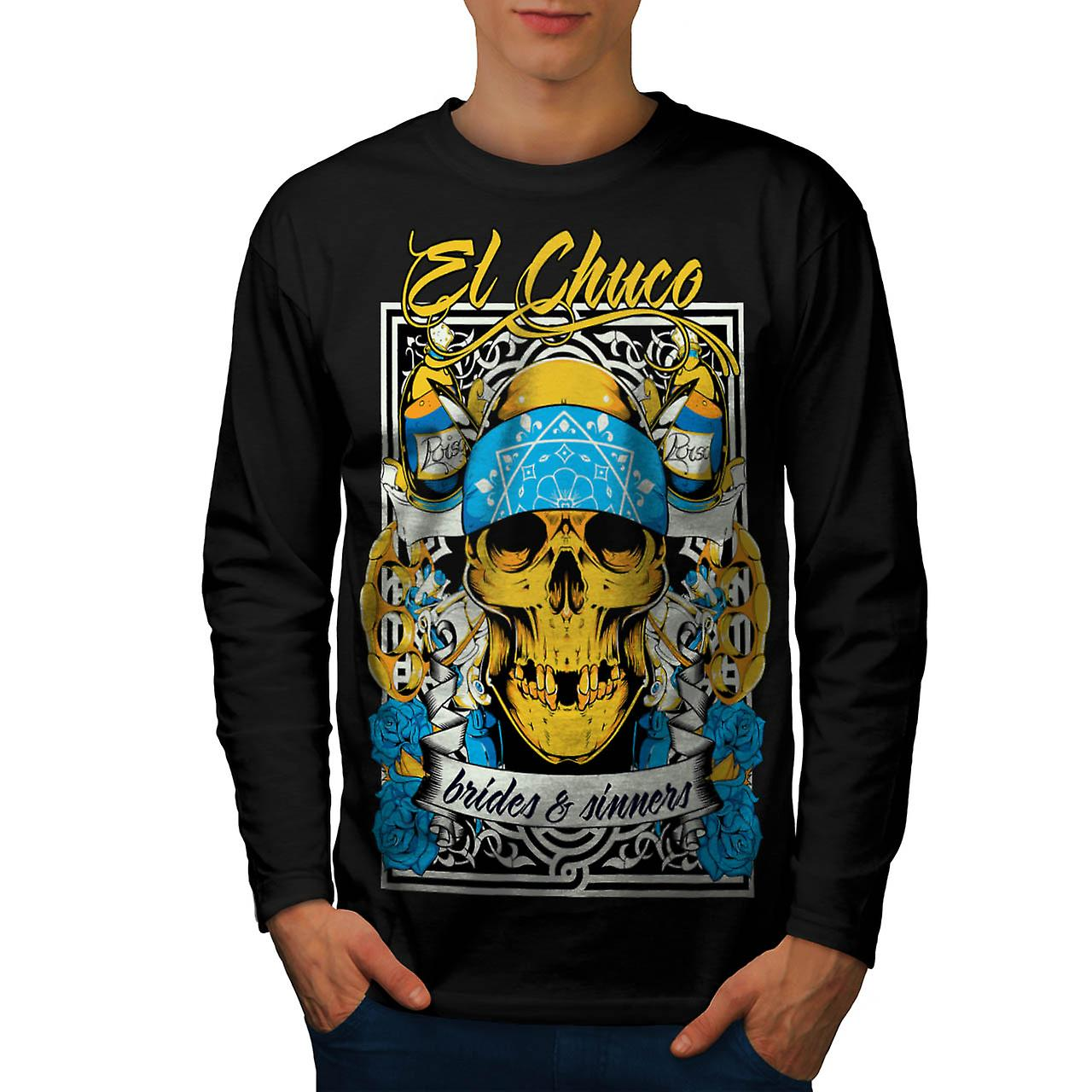 Brides Sinner Gang Warrior Fight Men Black Long Sleeve T-shirt | Wellcoda