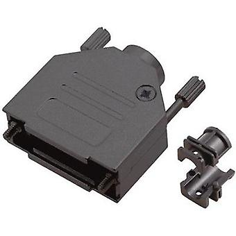D-SUB housing Number of pins: 15 Metal 180 ° Black MH Connectors MHDTZK-15-RA-BK-K 1 pc(s)