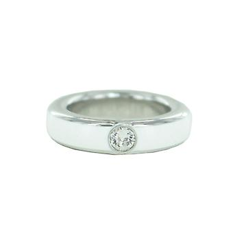 ESPRIT women's ring stainless steel silver white ESSE10987A