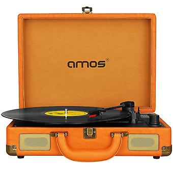 AMOS Suitcase Record Player (Vintage Brown)