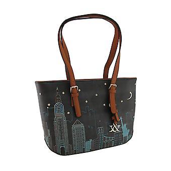 Colorful Cityscape Scene Textured Vinyl Handbag