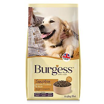 Burgess Sensitive Adult Dog Turkey & Rice 12.5kg