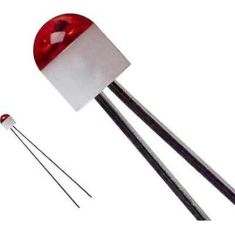 LED wired Red Circular 2 mm 10 mcd 160 °