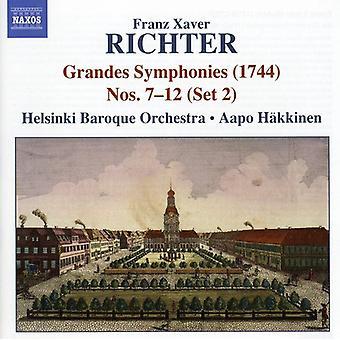 F.X. Richter - Franz Xaver Richter: Grandes Symphonies Nos. 7-12 (Set 2) [CD] USA import