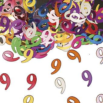 Table confetti number 9 decoration confetti birthday party