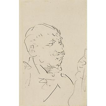 Henri Toulouse Lautrec - Head of a Man Poster Print Giclee