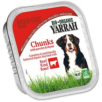 Yarrah Terrine for dogs with beef and 150 g bio spirulina (Dogs , Dog Food , Wet Food)