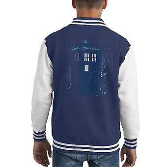 Travel In Time Tardis Doctor Who Kid's Varsity Jacket