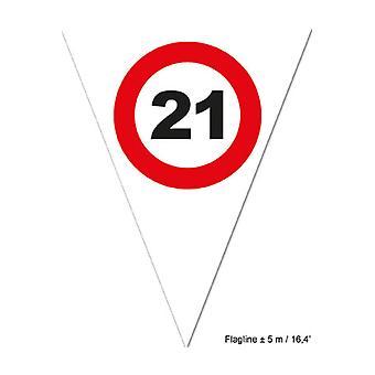 Part favoriserer Flagline 21 røde færdselsskilt 5m