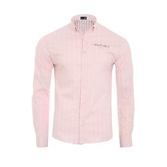 Tazzio fashion shirt men's long sleeve-shirt pink G-708
