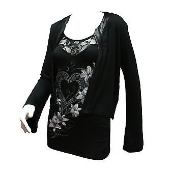 Spiral - PURE OF HEARTS - 2in1 Lace Vest Cardigan .