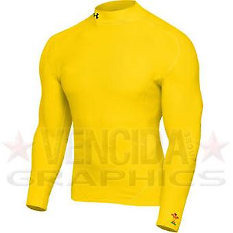 UNDER ARMOUR wales rugby coldgear mock kids [yellow]