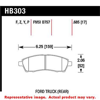 Hawk Truck/SUV Brake Pads HB303P.685 Fits:FORD 2000 - 2005 EXCURSION  Position: