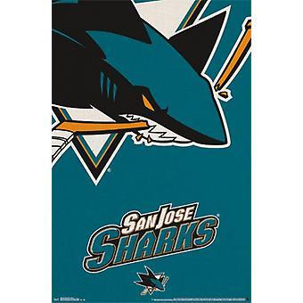 San Jose Sharks&reg - Logo 14 Poster Poster Print