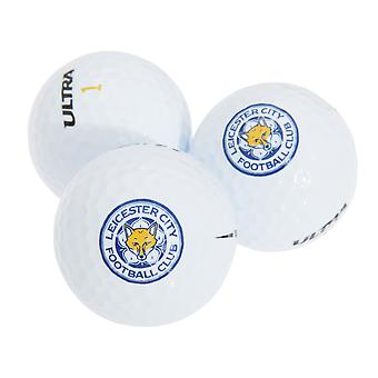 Leicester City FC Official Football Crest Golf Ball Gift Pack