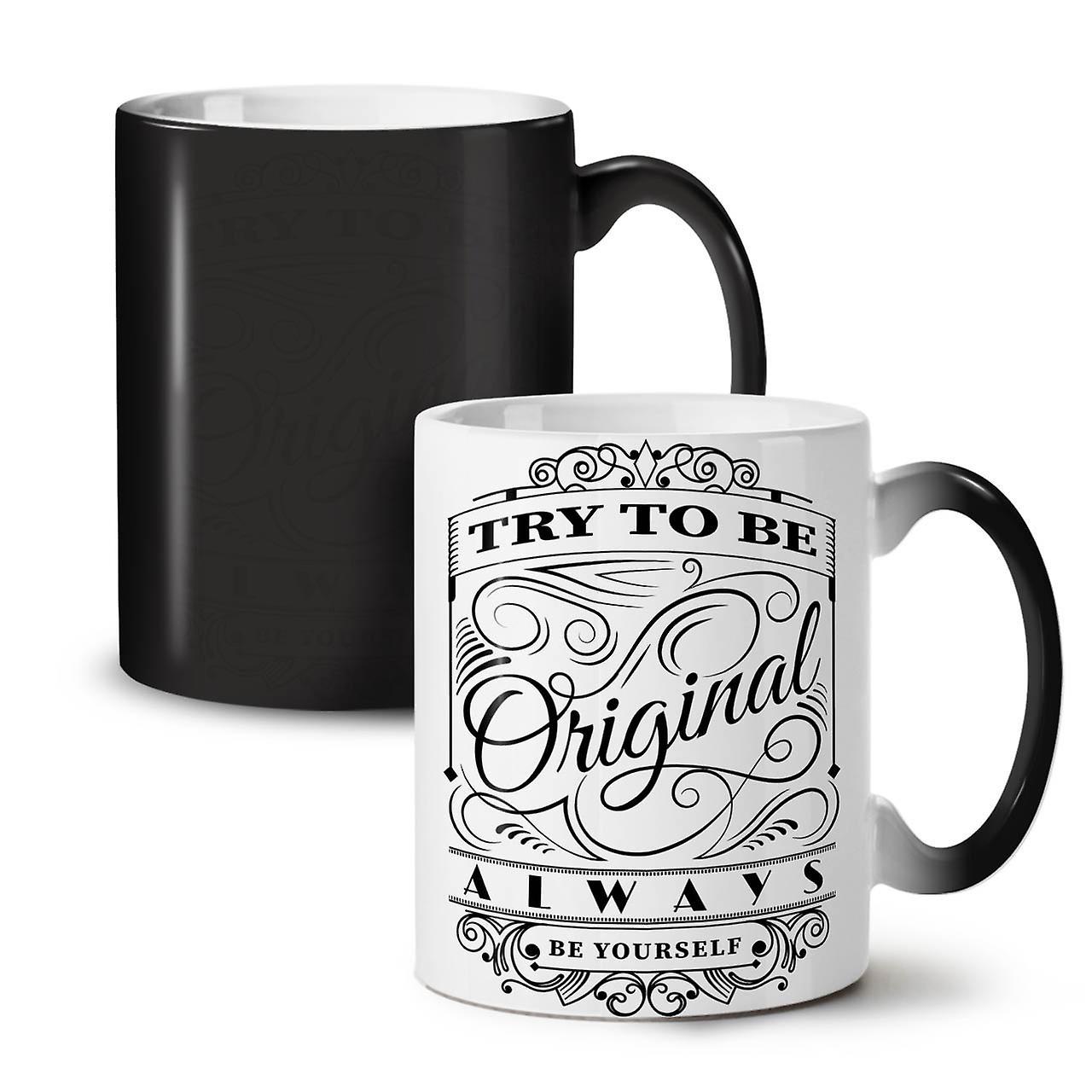 Try Ceramic To Colour 11 OzWellcoda Black Coffee Be Mug Unique Tea Changing New kXTOPuiZ