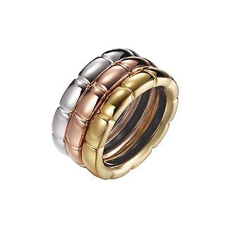 Joop women's ring silver tricolor LIA JPRG90729A