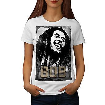 Bob Marley sorridente Martyversion2-camicia donna | Wellcoda