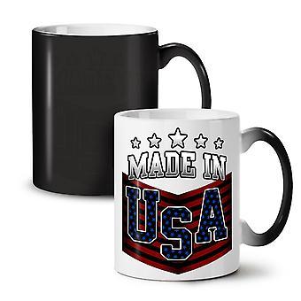 Made in USA NEW Black Colour Changing Tea Coffee Ceramic Mug 11 oz   Wellcoda