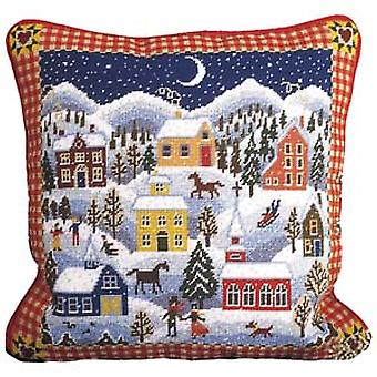 Winter dorp Needlepoint Kit