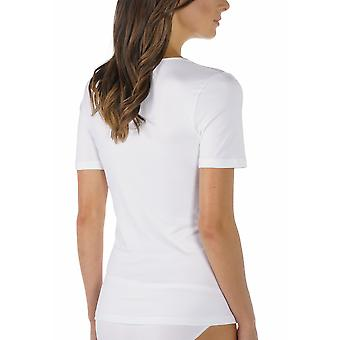 Mey 56201-1 Women's Emotion White Solid Colour Short Sleeve Top