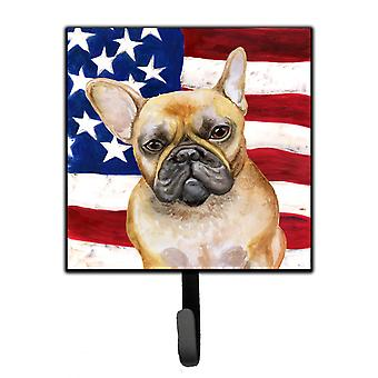 Carolines Treasures  BB9688SH4 French Bulldog Patriotic Leash or Key Holder