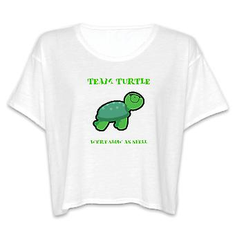Team Turtle Slow As Shell Graphic Women's Flowy Boxy Tee