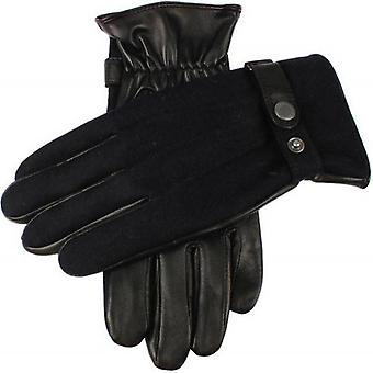 Dents Guildford Wool Flannel Back Gloves - Navy/Black