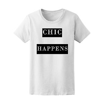 Fashion Paris Chic Happens Women's Tee - Image by Shutterstock